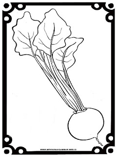 gambar sketsa ubi bit hitam putih