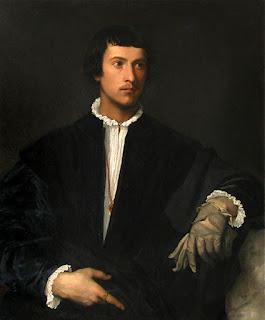 El hombre del guante. Tiziano