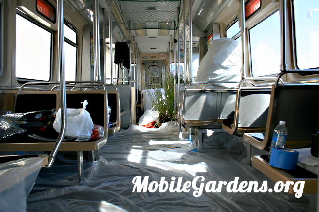 CTA rail car transformed into mobile garden