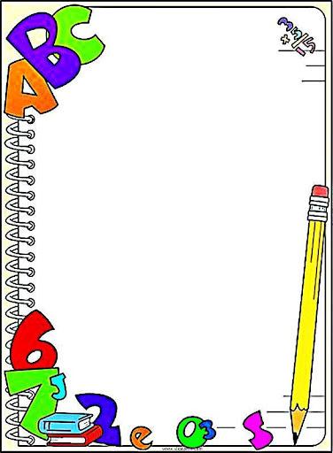 Bordas Pedag  Gicas Coloridas   O Tema Escola  Bordas Escolares