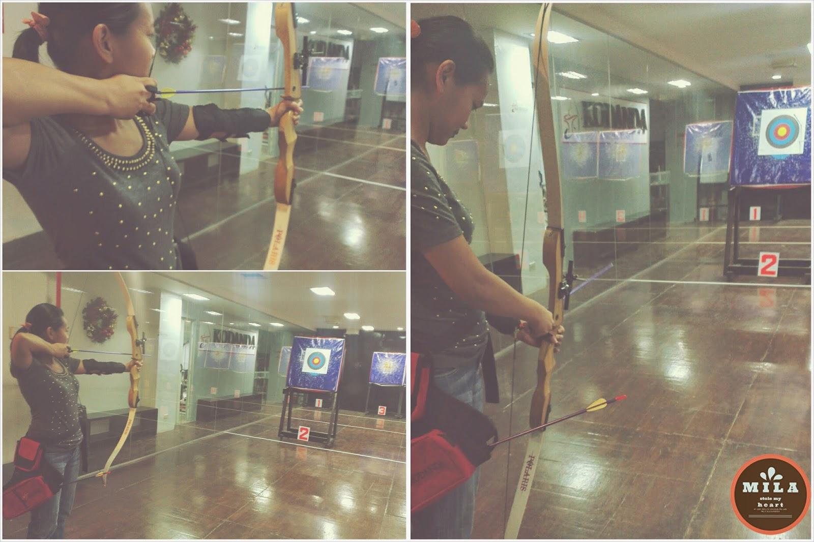 Kodanda Archery Range Practice Shot
