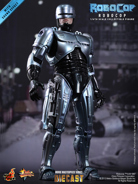 "Hot Toys 1/6 Scale Robocop MMS Diecast 12"" Figure"