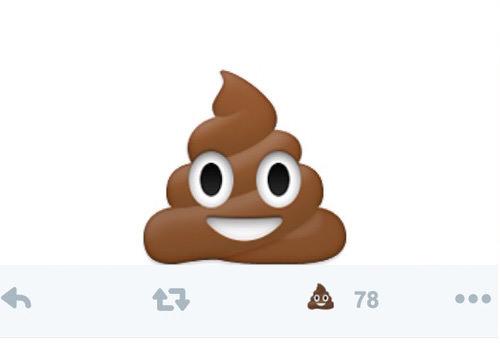 Twitterのいいねのハートをうんちに変える