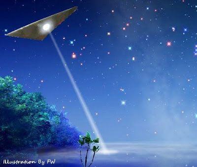 UFO Shining Spotlight
