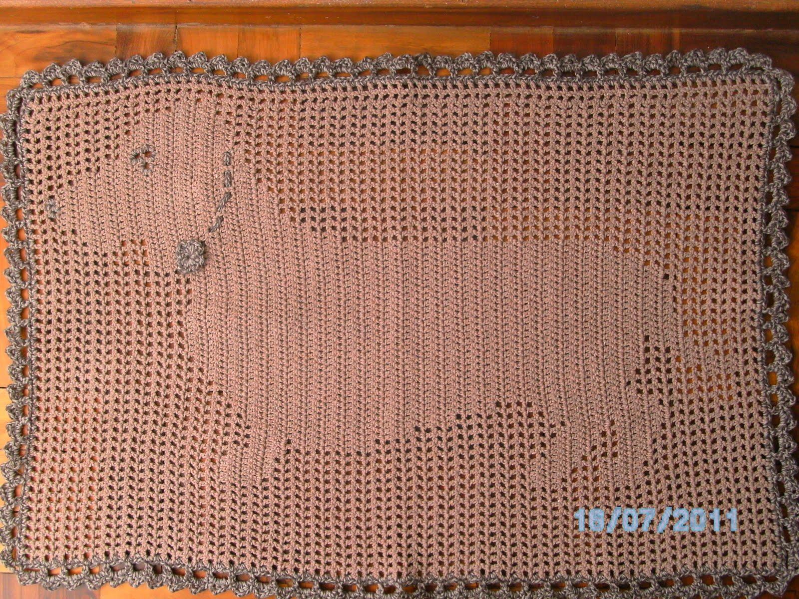 Bolsa Para Carregar Cachorro Em Croche : Tathy croche cia tapete cachorro em croch? fil?