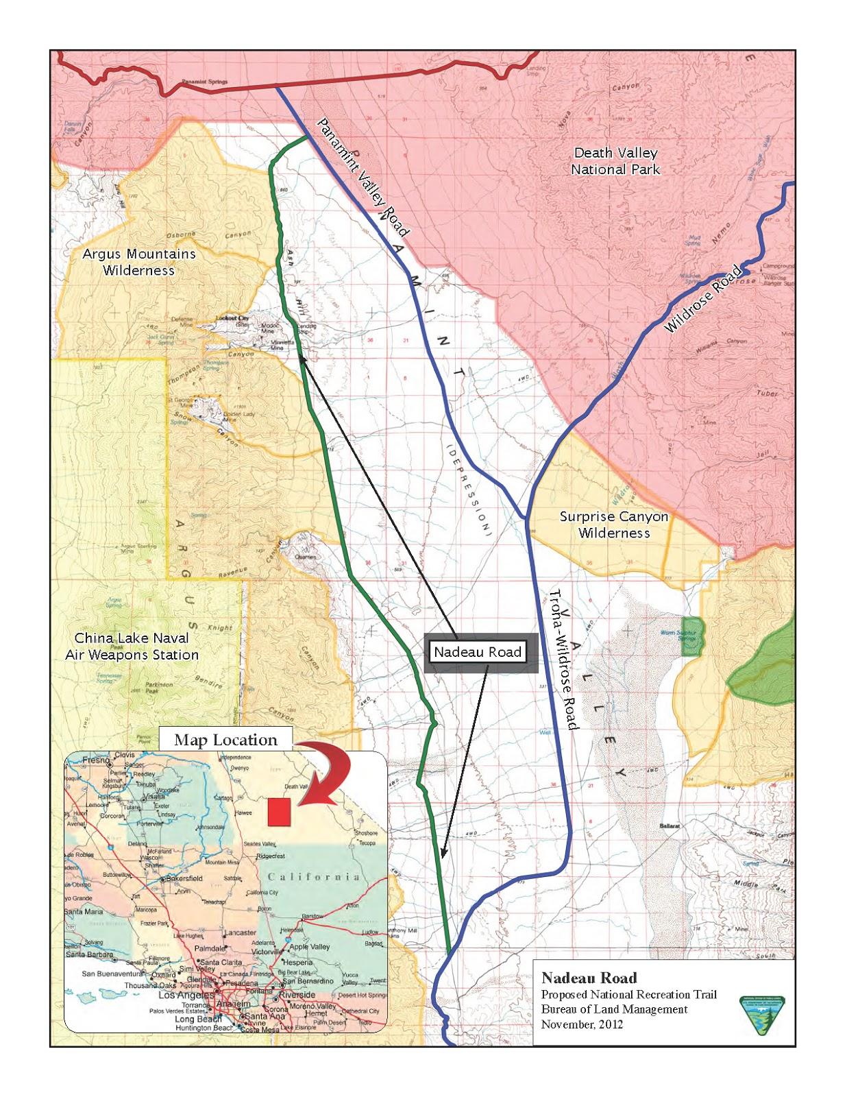 TimWaagBlog CALIFORNIA The Nadeau Trail 4x4 dirt road
