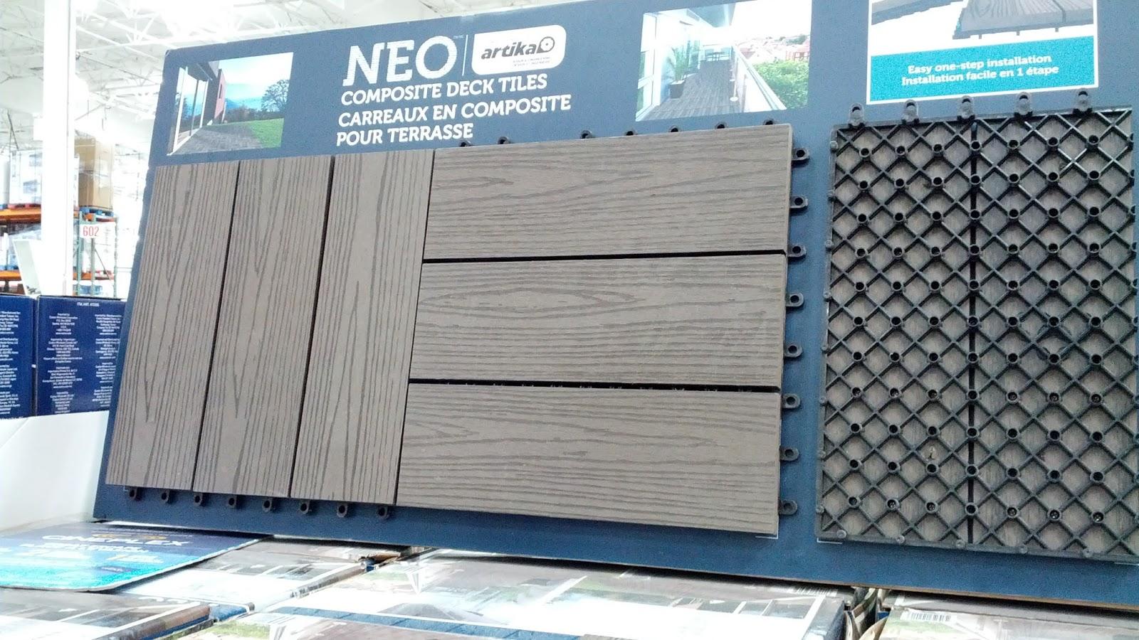 Neo Composite Deck Tiles Costco Weekender