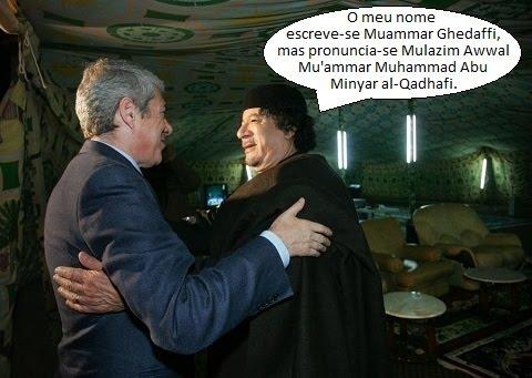 Nome do líder líbio pode escrever-se e pronunciar-se de 112 maneiras diferentes