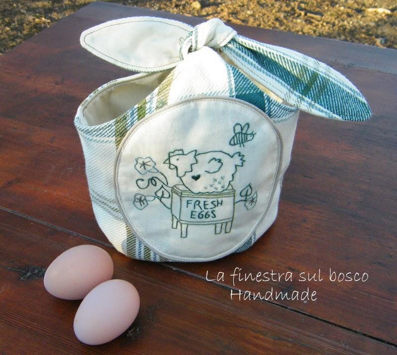 La finestra sul bosco handmade cestino porta uova e for Porta uova
