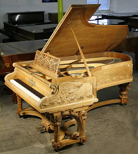 Besbrode pianos leeds showroom ref 1742 an inticately for Big grand piano