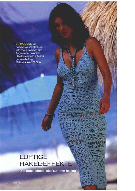 Вязание крючком для женщин сарафанов 66