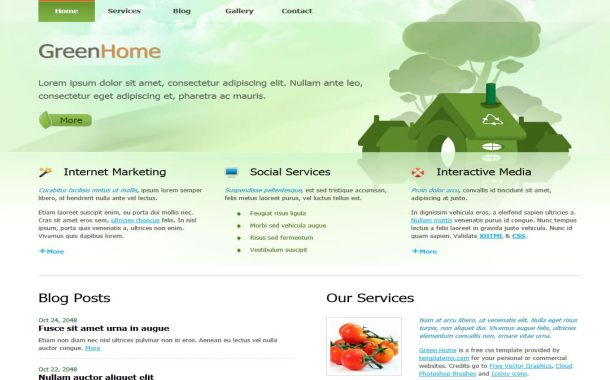 Free Green Nature Eco HTML CSS Website Template