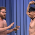 seth rogen e james franco nudi nella torta di jimmy fallon