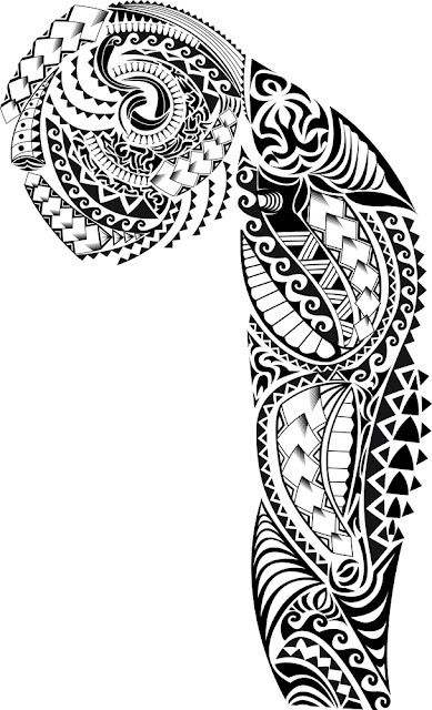 Tribal Tattoo Sleeve Stencils