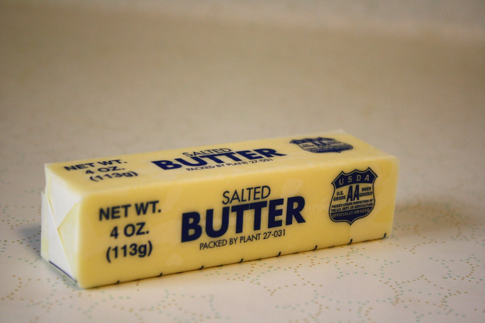 1/4 pound of butter