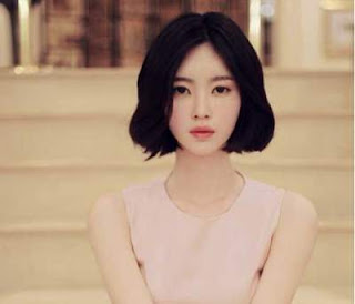 model rambut pendek wanita asia short dark bob hair lower