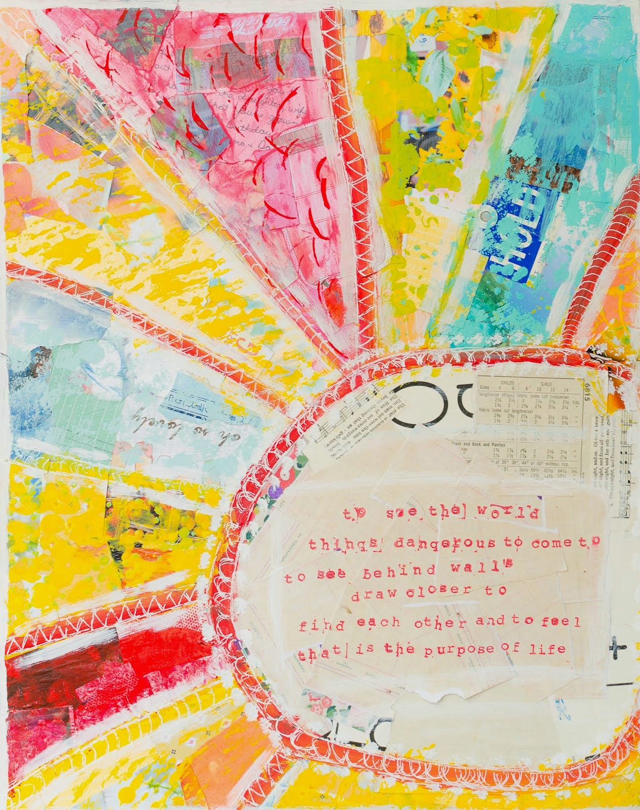Mixed Media with a purpose: Treasure the rosy in the routine!