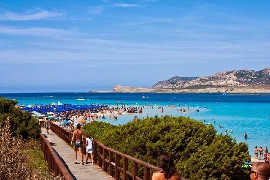 посещаван плаж в Италия