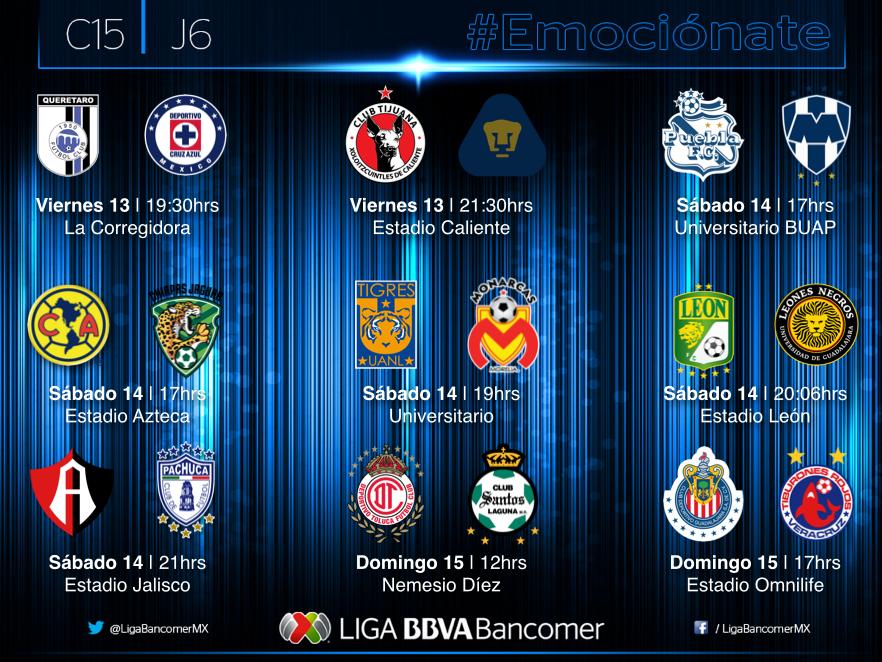 Jornada 6 liga mx clausura 2015