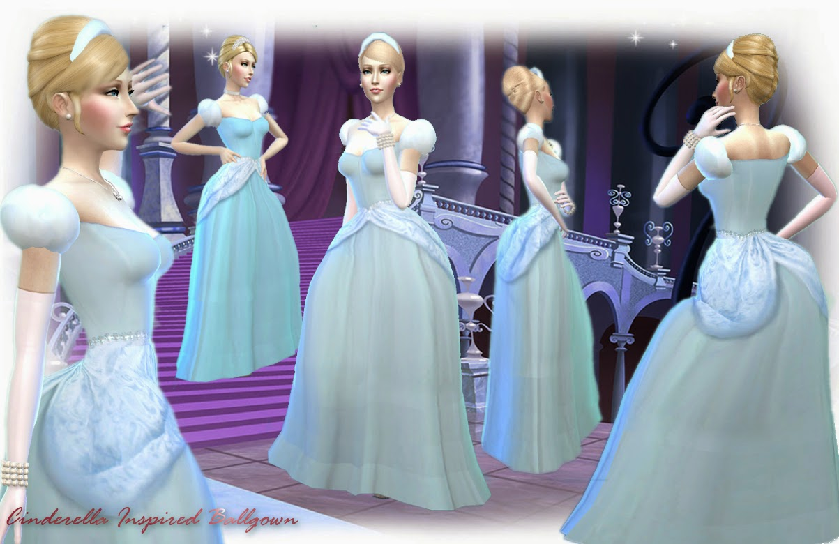 Mythical Dreams Sims 4 Cinderella Inspired Ballgown