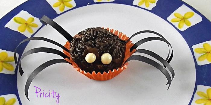 Aranha comestível halloween