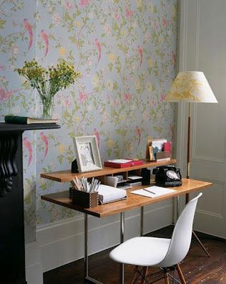 decoracion oficina pintura y madera