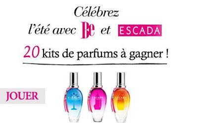 Jeu Be: 20 kits de parfums Escada à gagner