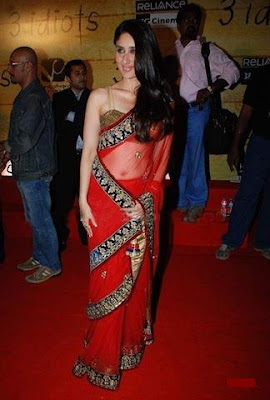 KAREENA'S RED HOT SAREE
