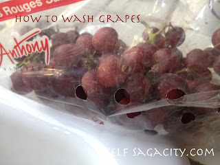 red grapes in a bag