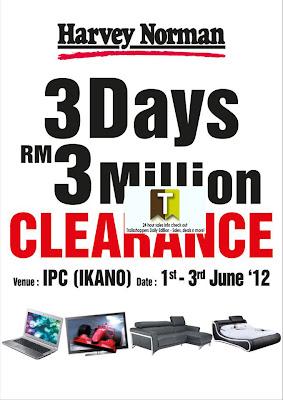 Harvey Norman 3Days RM3million Clearance