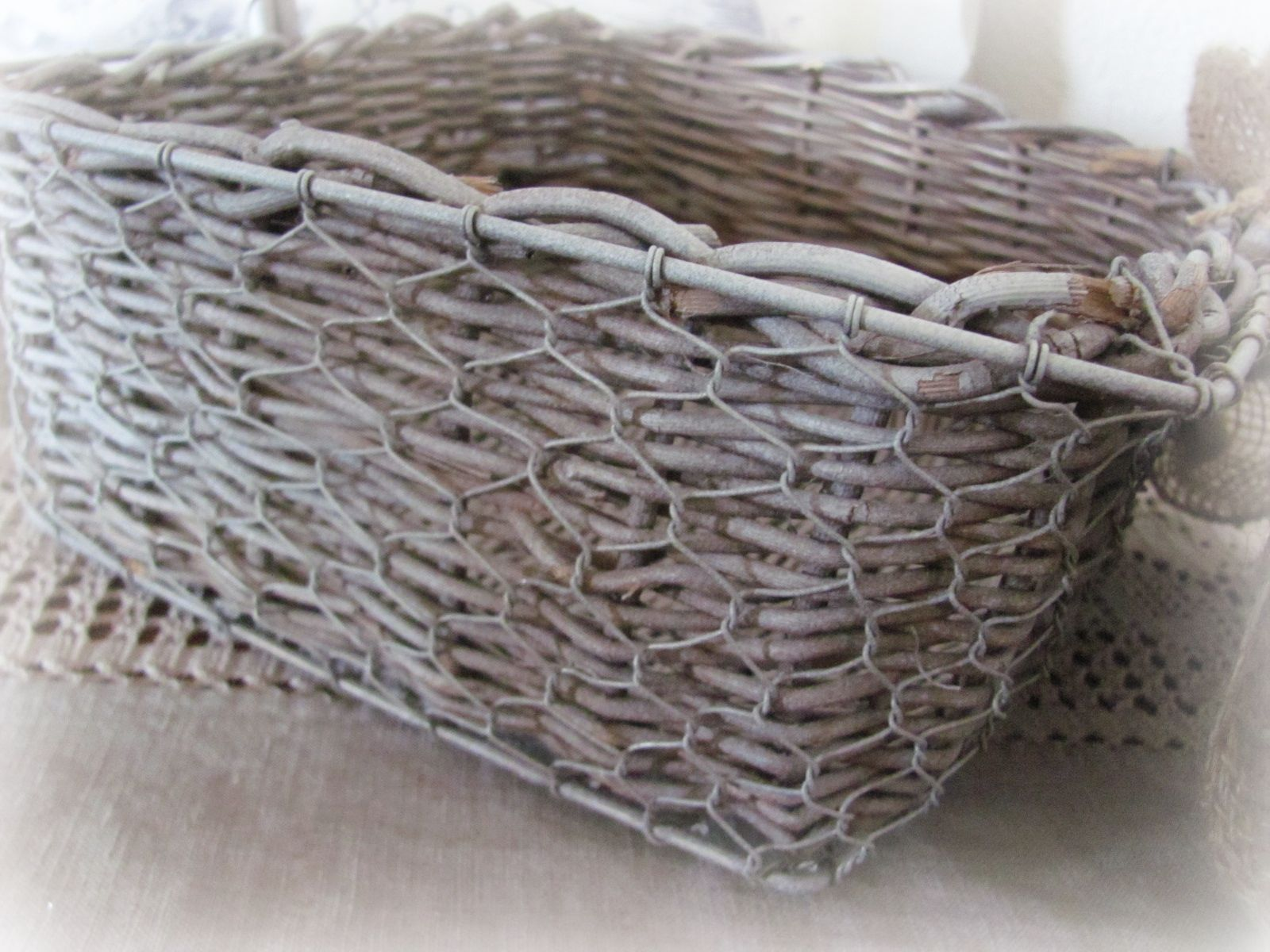 My Shabby Chateau: White Washed French Country Basket