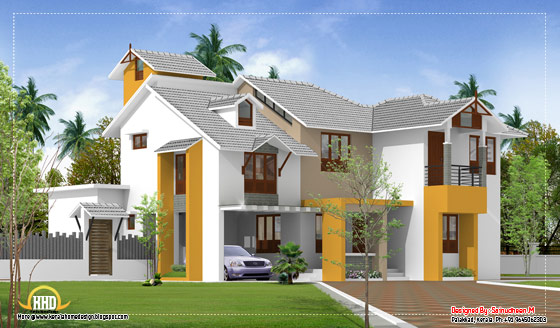 Modern Kerala home design - 2135 Sq.Ft. (198 Sq.M.) (237 Square Yards)