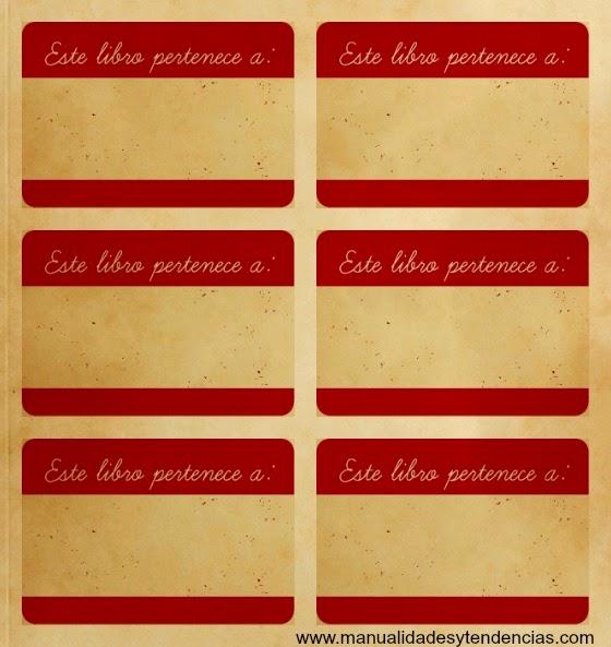 Etiquetas para libros retro imprimibles gratis