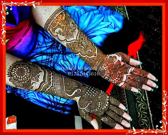 Simple and Beautiful Mehndi Designs 2014-2015