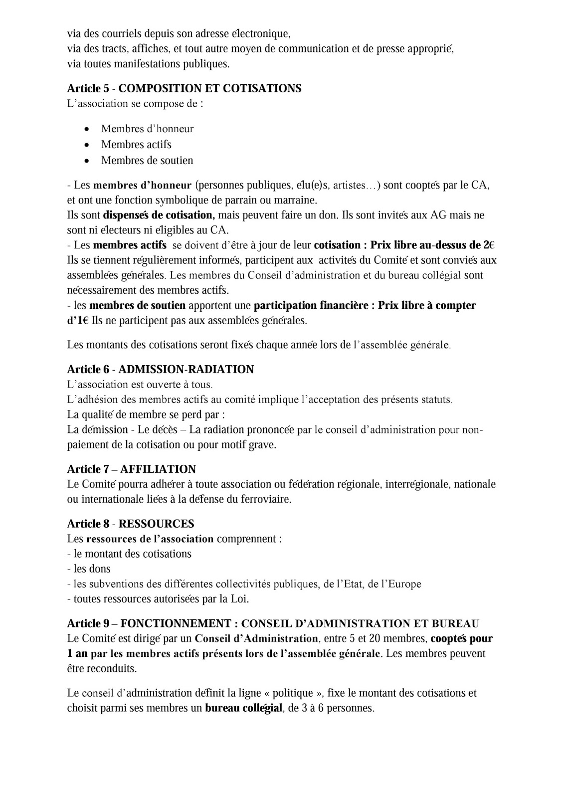 Modification statuts association modele modification - Modification bureau association loi ...