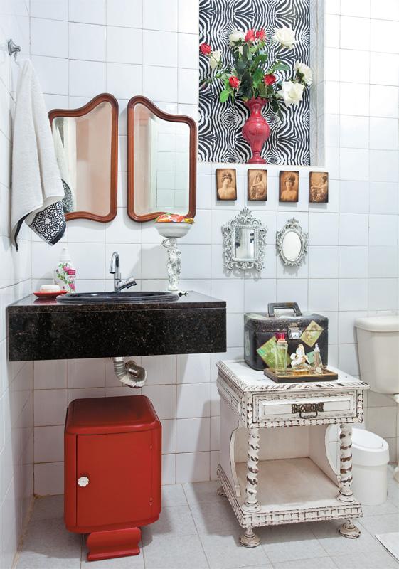blog de decoração  Arquitrecos Inspirações para banheiros charmosos gastand -> Decoracao De Banheiro Com Papel Contact