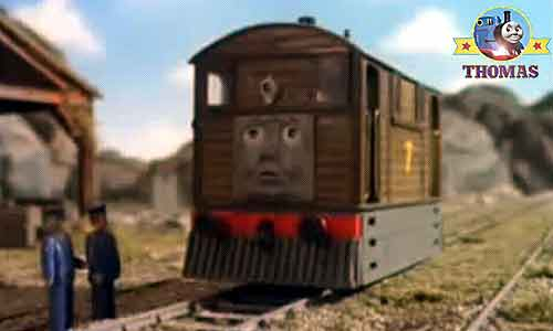 ... train Toby Thomas the tank engine and Percy the tank engine said