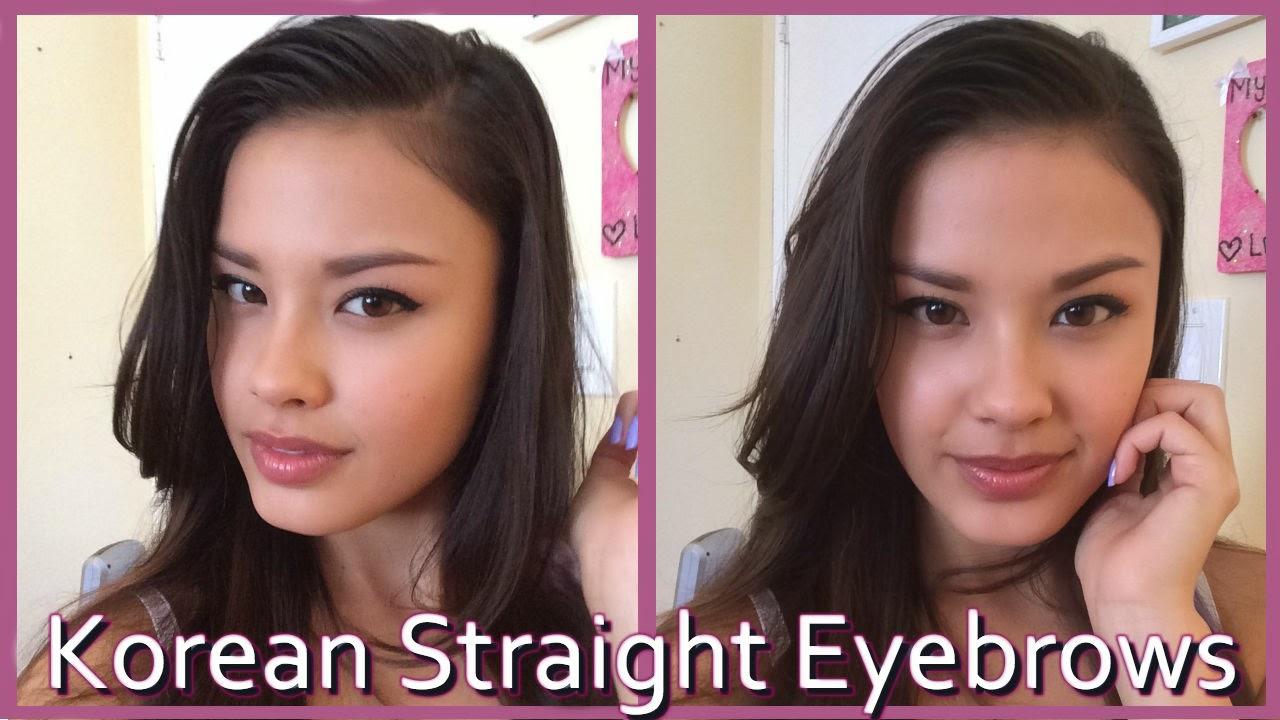 the beauty breakdown korean style straight eyebrows tutorial makeup ulzzang