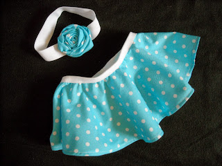 blue and white polka dot circle skirt and headband set, skirt and headband set, blue and white polka dots, polka dots, blue and white, polka dot baby skirt, polka dot headband, matching skirt and headband, baby circle skirt, baby headband, rosette headband