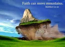 memindahkan gunung dengan rasa percaya