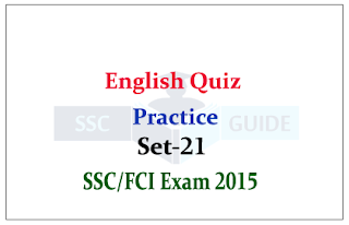 English Quiz - Correct Meaning for SSC/FCI Exam
