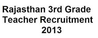 Rajasthan 3rd Grade Teacher Application Form 2013 | RPSC Online Forms
