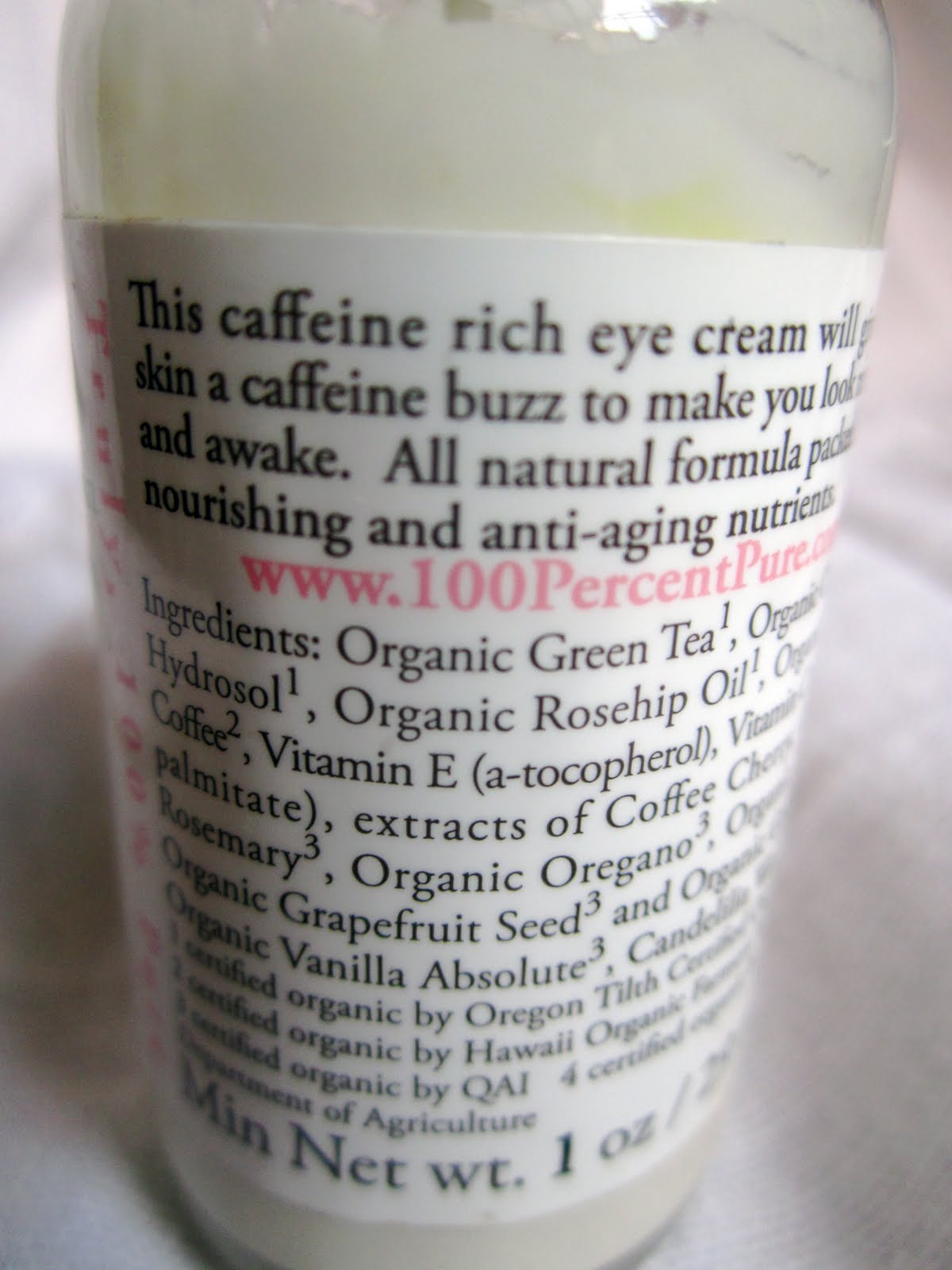 Organic Coffee Bean Eye Cream