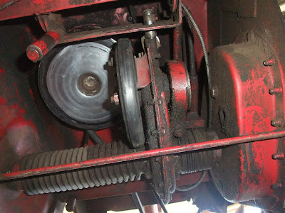 snapper riding mower, friction wheel transmission,
