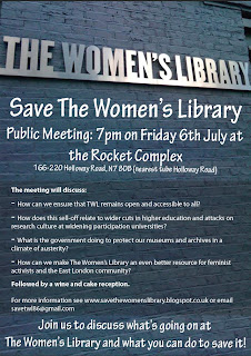 Save The Women's Library Public Meeting: 6th July (UK)
