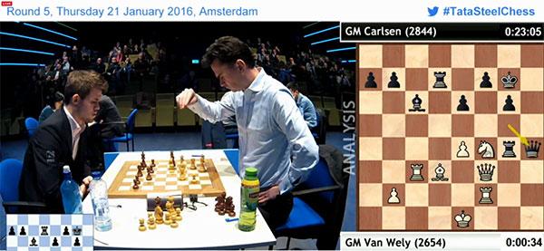 Loek Van Wely (2640) 0-1 Magnus Carlsen (2844)