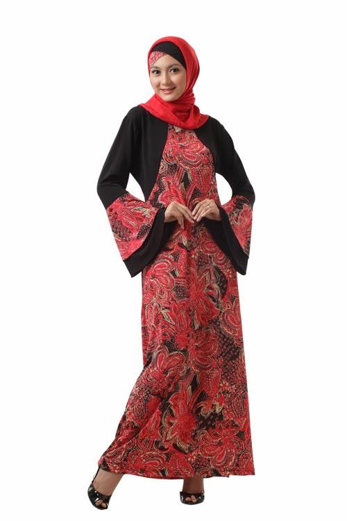 Model baju gamis batik remaja trend 2015 gaya masa kini Baju gamis remaja