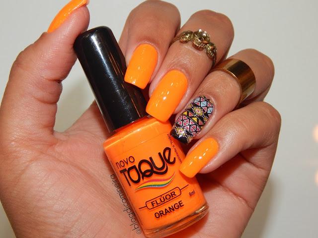 Esmalte Flúor Orange e Película Étnica Coisas de Mulher