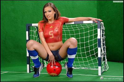 Women of Soccer Costume Airbrush Body Painting Spain