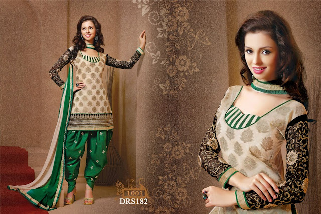 Beautiful And Gorgeous Chanderi Cotton Dress Material